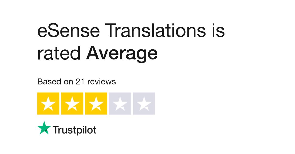 eSense Translations Reviews | Read Customer Service Reviews
