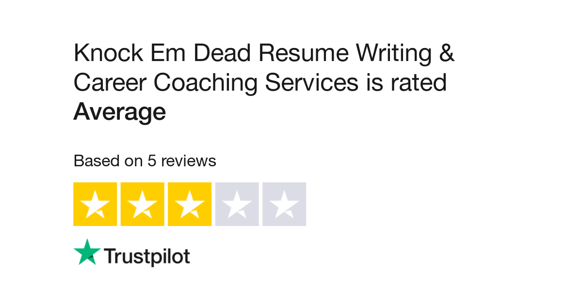 Knock Em Dead Resume Writing & Career Coaching Services Reviews ...