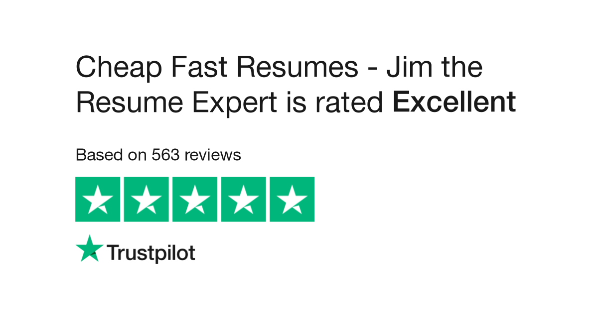 Cheap Fast Resumes - Jim the Resume Expert Reviews | Read Customer ...