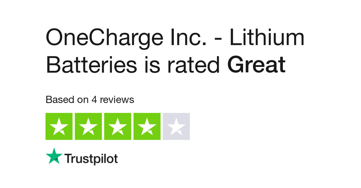 OneCharge Inc  - Lithium Batteries Reviews | Read Customer