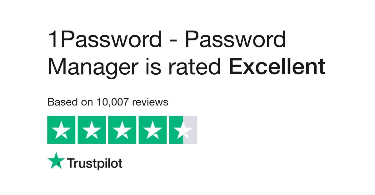 1Password Reviews | Read Customer Service Reviews of 1password com