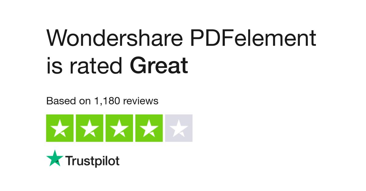 Wondershare PDFelement Reviews | Read Customer Service