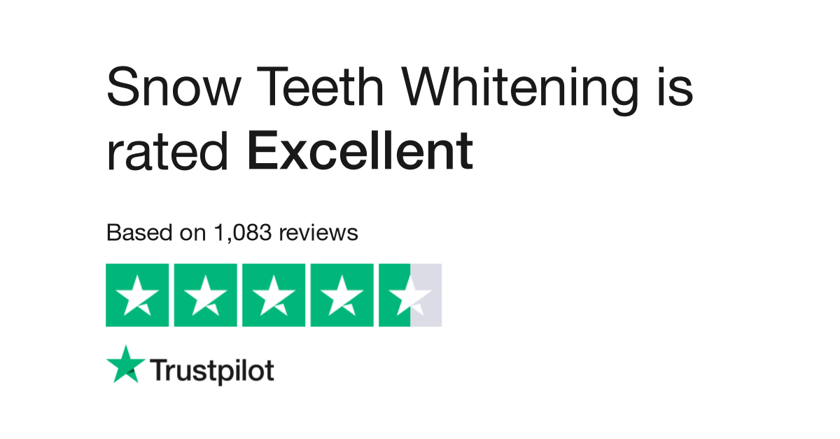 Measurements Inches Snow Teeth Whitening Kit