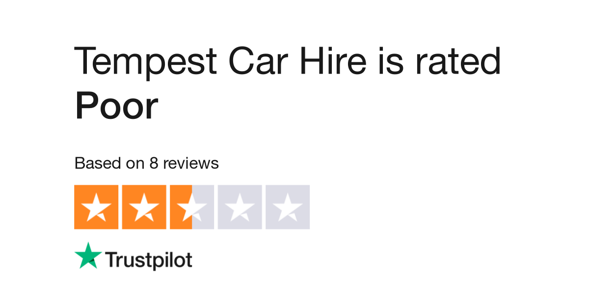 Tempest Car Hire Reviews Read Customer Service Reviews Of