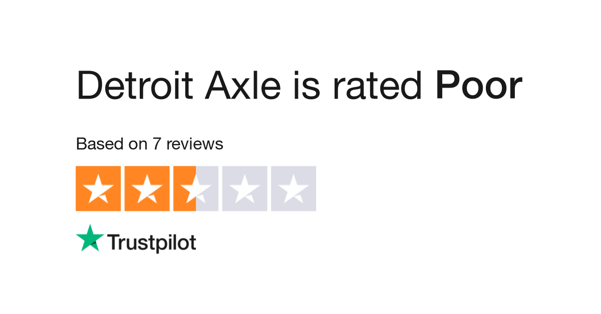 Detroit Axle Reviews | Read Customer Service Reviews of
