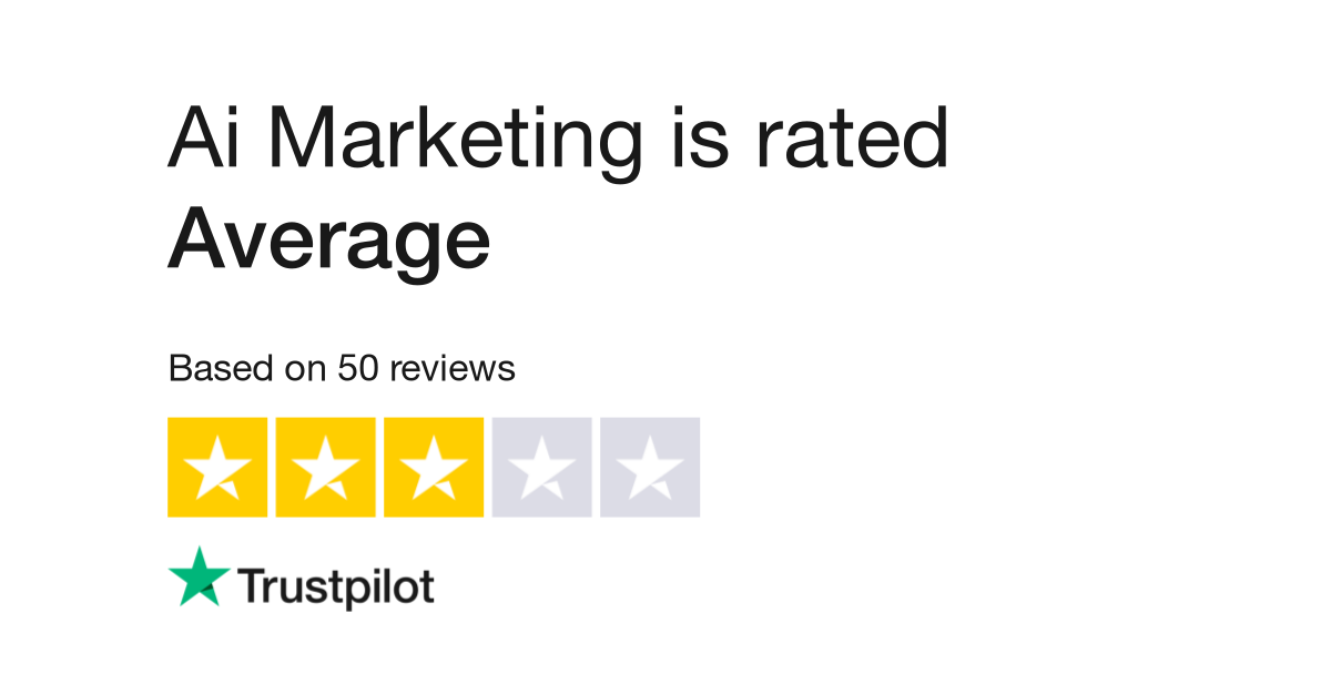 """Ai Marketing is rated """"Excellent"""" with 4.4"""
