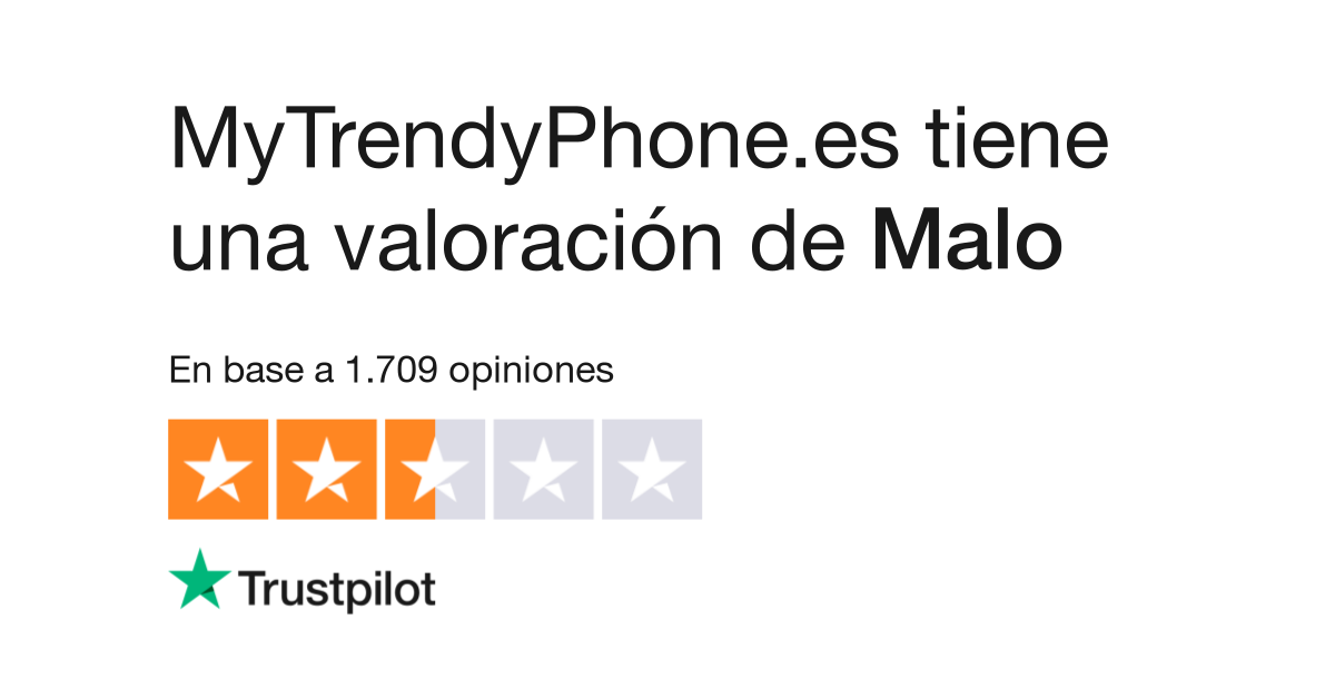 47f65fd3dc2 Opiniones de MyTrendyPhone.es | Lea opiniones de clientes de mytrendyphone .es