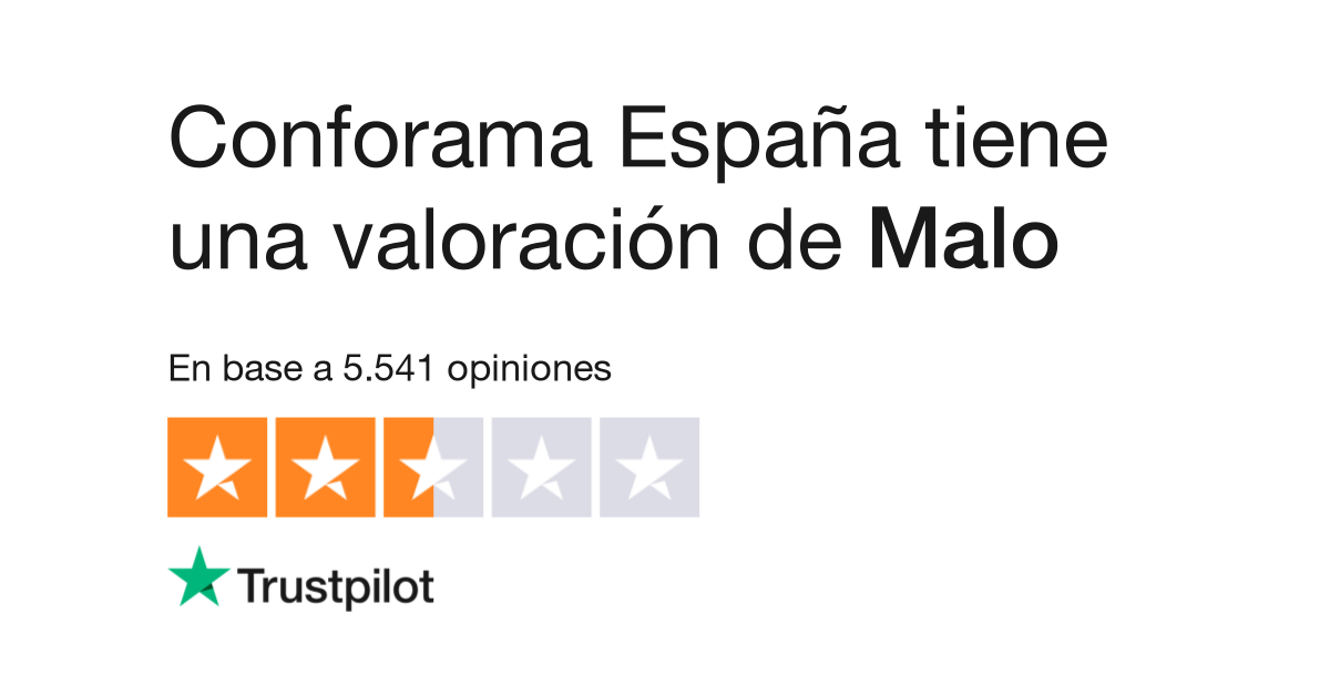Opiniones De Conforama España Lea Opiniones De Clientes De