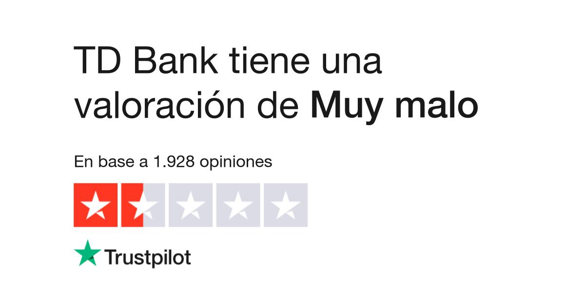 Opiniones de TD Bank | Lea opiniones de clientes de tdbank ca
