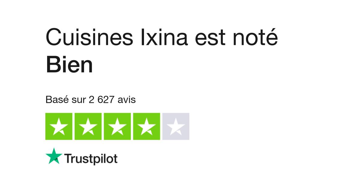 Avis de Cuisines Ixina | Lisez les avis clients de www.ixina.fr