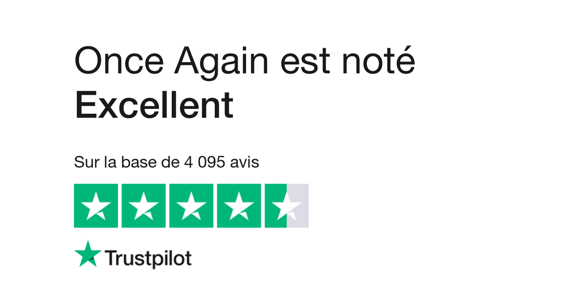 best website 0d211 4edcb Avis de Once Again   Lisez les avis clients de onceagain.fr