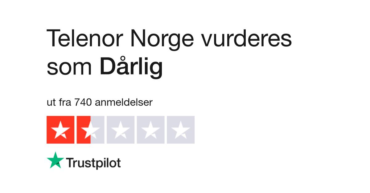 81e89258 Telenor Norge Anmeldelser | Les kundenes anmeldelser av www.telenor.no