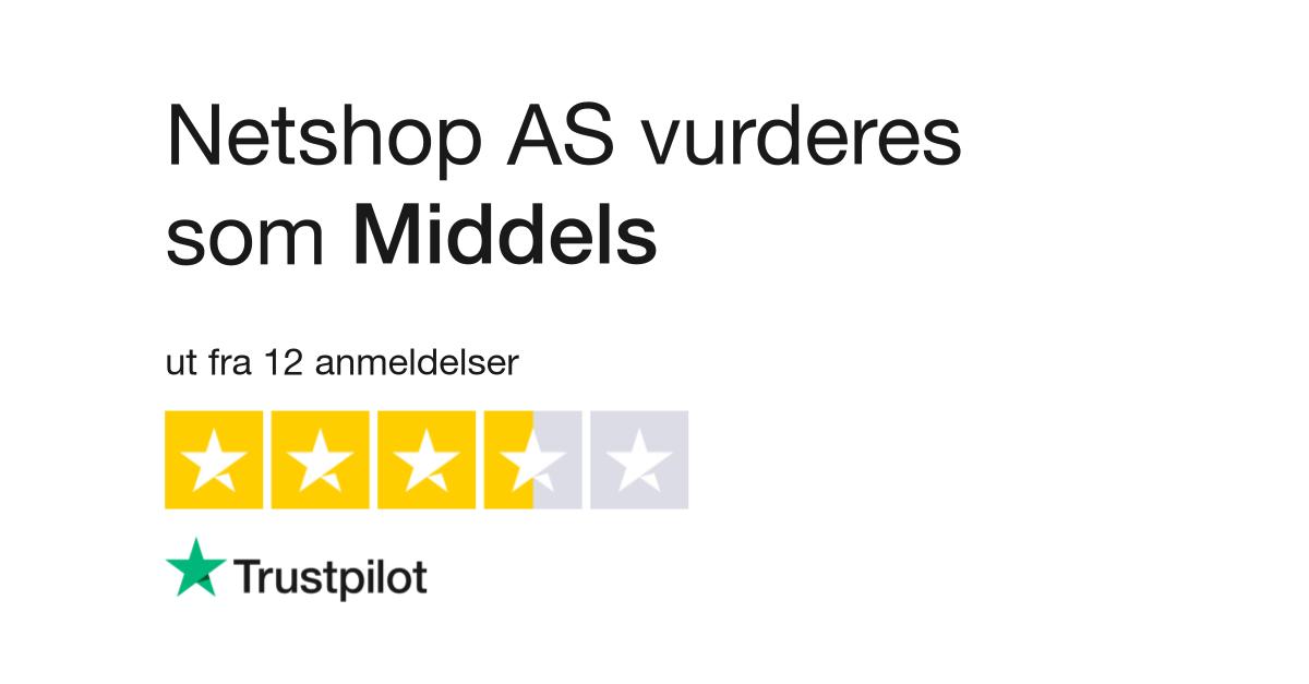 33fcfcf9 Netshop AS Anmeldelser | Les kundenes anmeldelser av www.netshop.no
