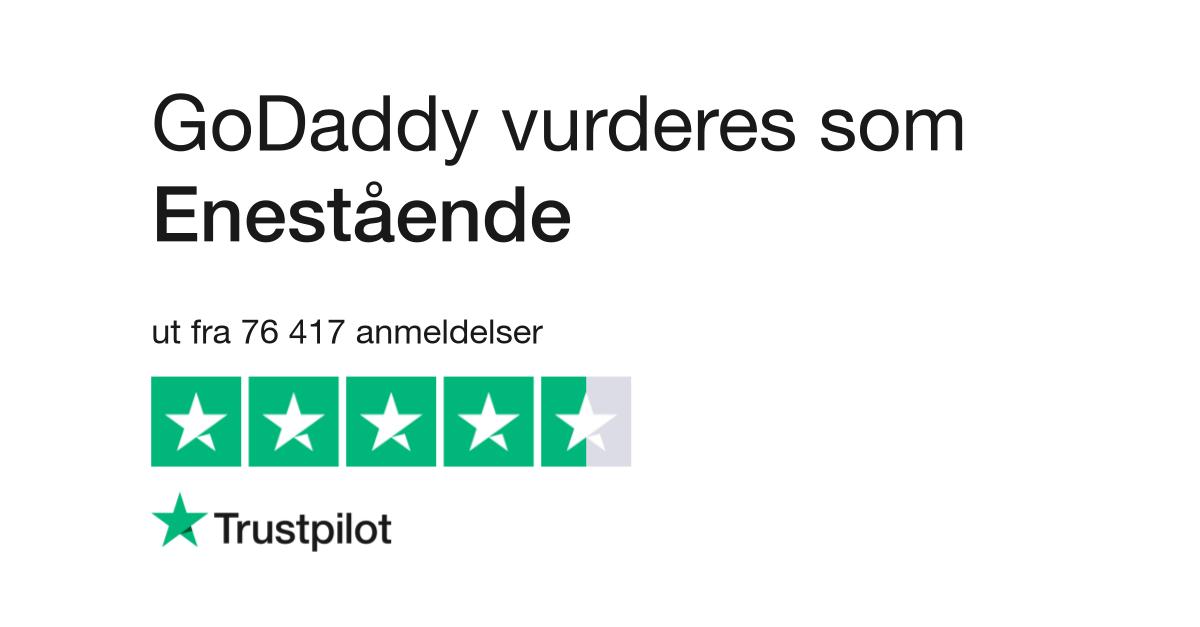 GoDaddy Anmeldelser   Les kundenes anmeldelser av www.godaddy.com ...