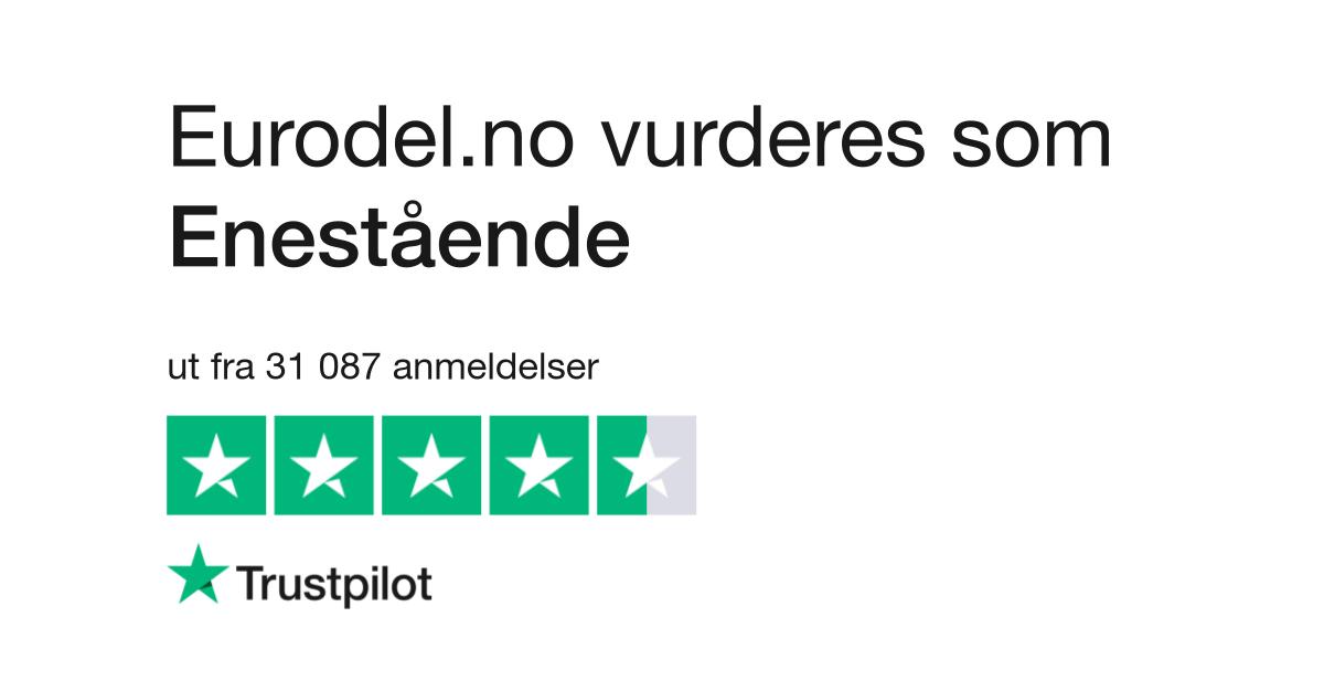 differently 30b38 2dc34 Eurodel.no Anmeldelser   Les kundenes anmeldelser av www.eurodel.no