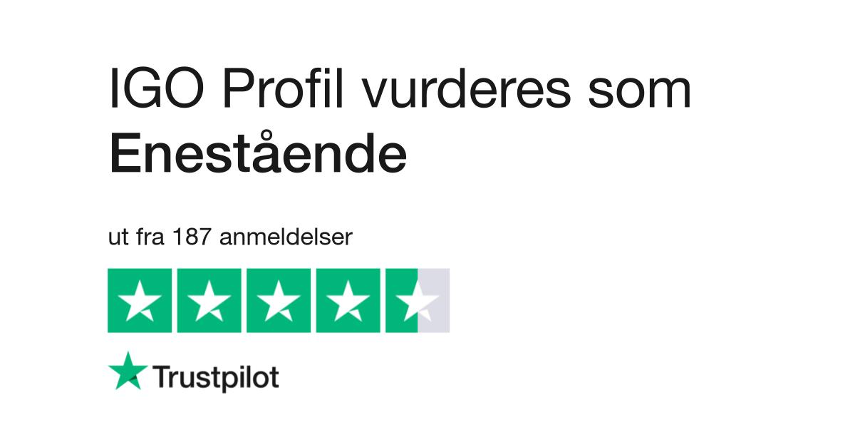 best service 6d3db ddf60 IGO Profil Anmeldelser   Les kundenes anmeldelser av igoprofil.no