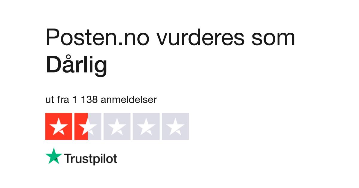 6844da46 Posten.no Anmeldelser | Les kundenes anmeldelser av posten.no