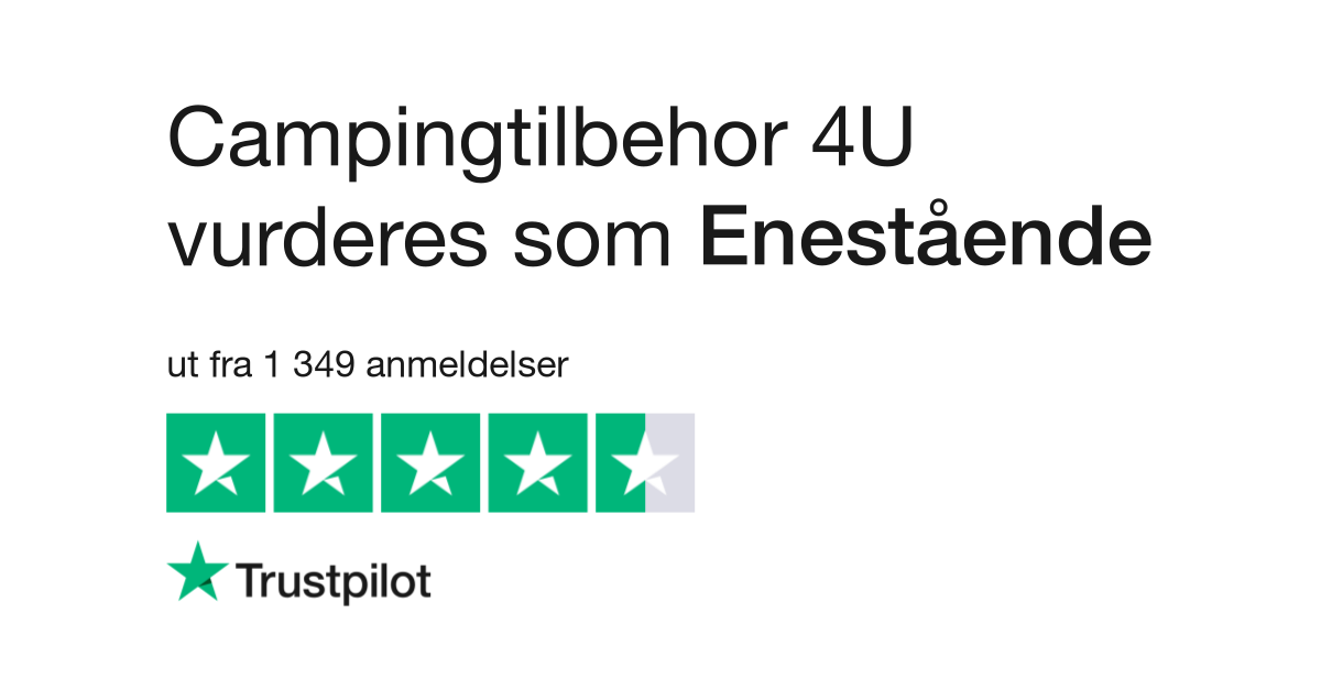 Campingtilbehør4u er et norsk selskap som leverer produkter