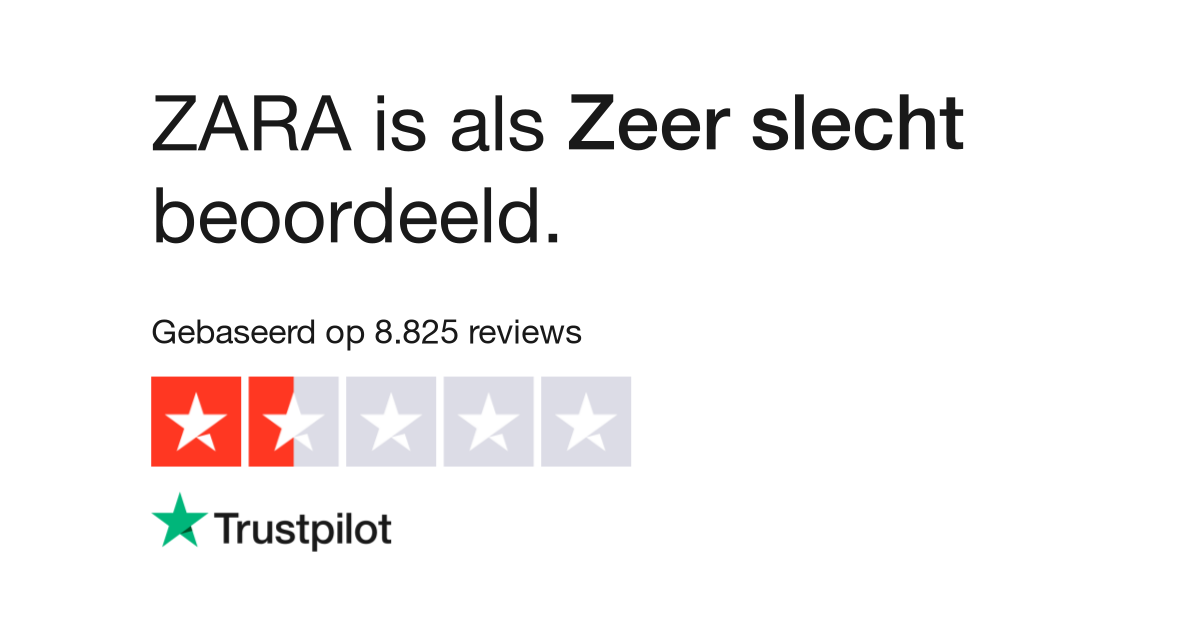 Zara Reviews Lees Klantreviews Over Wwwzaracom 2 Van 7