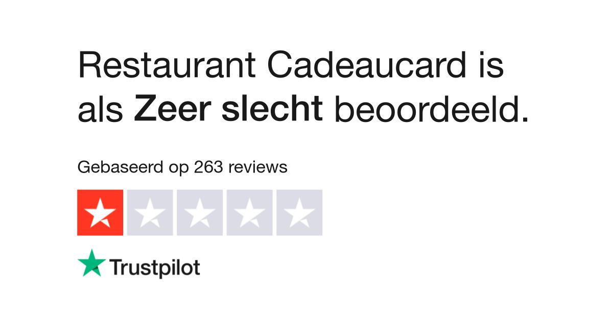 Restaurant Cadeaucard Reviews Lees Klantreviews Over