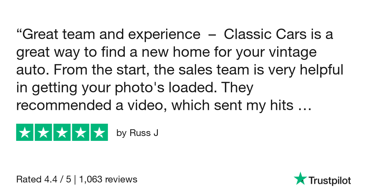 Russ J gave ClassicCars.com 5 stars. Check out the full review...