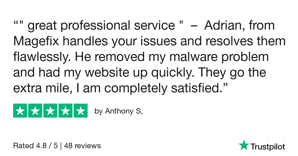 magefix remove malware trustpilot reviews 1