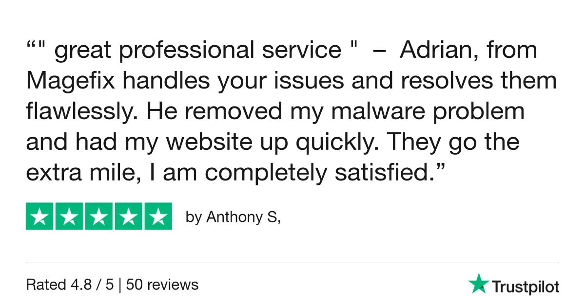magefix remove malware trustpilot reviews 1